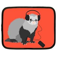 Funny Music Lover Ferret Netbook Case (XL)