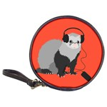 Funny Music Lover Ferret Classic 20-CD Wallets Front