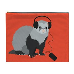 Funny Music Lover Ferret Cosmetic Bag (XL)