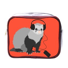 Funny Music Lover Ferret Mini Toiletries Bags