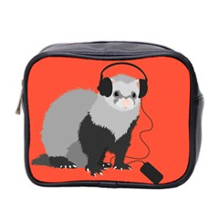 Funny Music Lover Ferret Mini Toiletries Bag 2-Side
