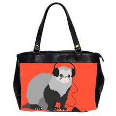 Funny Music Lover Ferret Office Handbags (2 Sides)