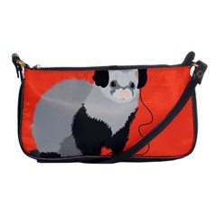 Funny Music Lover Ferret Shoulder Clutch Bags