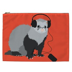 Funny Music Lover Ferret Cosmetic Bag (XXL)