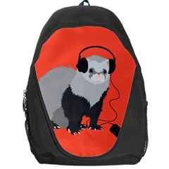 Funny Music Lover Ferret Backpack Bag