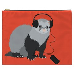 Funny Music Lover Ferret Cosmetic Bag (xxxl)