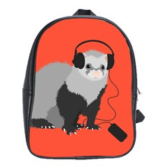 Funny Music Lover Ferret School Bags (xl)