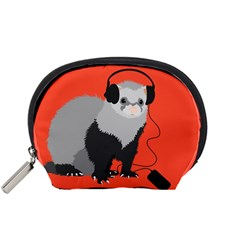 Funny Music Lover Ferret Accessory Pouches (small)