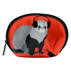 Funny Music Lover Ferret Accessory Pouches (medium)