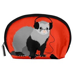 Funny Music Lover Ferret Accessory Pouches (large)