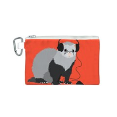 Funny Music Lover Ferret Canvas Cosmetic Bag (s)