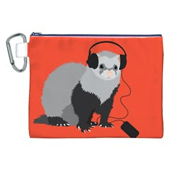 Funny Music Lover Ferret Canvas Cosmetic Bag (xxl)
