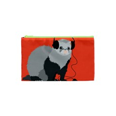 Funny Music Lover Ferret Cosmetic Bag (xs)