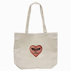 Angry Devil Heart Drawing Print Tote Bag (Cream)