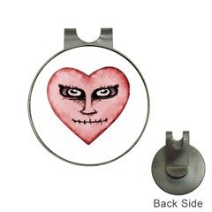 Angry Devil Heart Drawing Print Hat Clips with Golf Markers