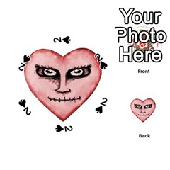 Angry Devil Heart Drawing Print Playing Cards 54 (Round)