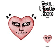 Angry Devil Heart Drawing Print Playing Cards 54 (Heart)