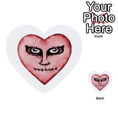Angry Devil Heart Drawing Print Multi Purpose Cards (heart)