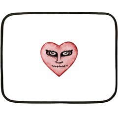 Angry Devil Heart Drawing Print Double Sided Fleece Blanket (Mini)