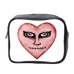 Angry Devil Heart Drawing Print Mini Toiletries Bag 2-Side