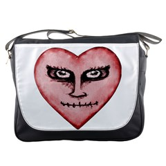 Angry Devil Heart Drawing Print Messenger Bags