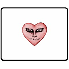 Angry Devil Heart Drawing Print Double Sided Fleece Blanket (medium)