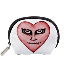 Angry Devil Heart Drawing Print Accessory Pouches (small)