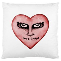 Angry Devil Heart Drawing Print Large Flano Cushion Cases (One Side)