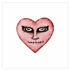Angry Devil Heart Drawing Print Large Satin Scarf (Square)
