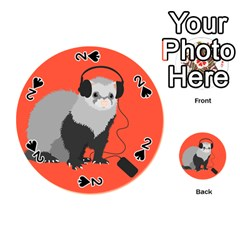 Funny Music Lover Ferret Playing Cards 54 (Round)