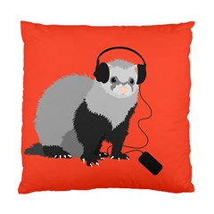 Funny Music Lover Ferret Standard Cushion Case (one Side)