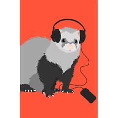 Funny Music Lover Ferret 5.5  x 8.5  Notebooks