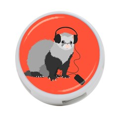 Funny Music Lover Ferret 4-Port USB Hub (One Side)