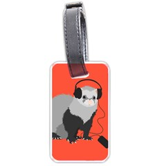 Funny Music Lover Ferret Luggage Tags (One Side)