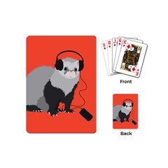 Funny Music Lover Ferret Playing Cards (Mini)