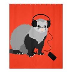 Funny Music Lover Ferret Shower Curtain 60  x 72  (Medium)
