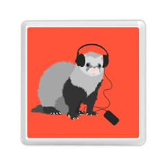 Funny Music Lover Ferret Memory Card Reader (square)