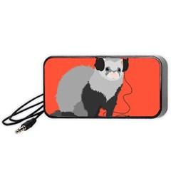 Funny Music Lover Ferret Portable Speaker (Black)