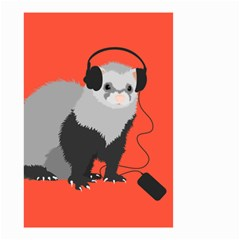Funny Music Lover Ferret Small Garden Flag (Two Sides)