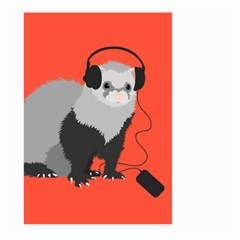 Funny Music Lover Ferret Large Garden Flag (Two Sides)