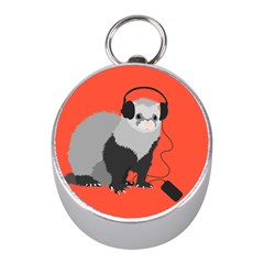 Funny Music Lover Ferret Mini Silver Compasses