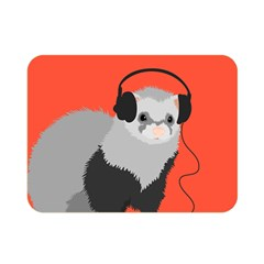 Funny Music Lover Ferret Double Sided Flano Blanket (mini)