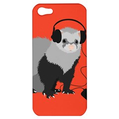Funny Music Lover Ferret Apple Iphone 5 Hardshell Case
