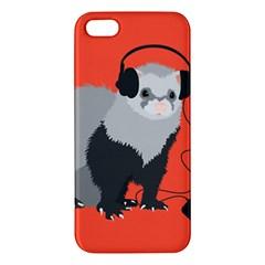 Funny Music Lover Ferret Apple iPhone 5 Premium Hardshell Case