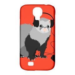 Funny Music Lover Ferret Samsung Galaxy S4 Classic Hardshell Case (PC+Silicone)