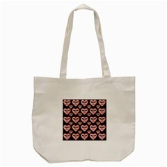 Angry Devil Hearts Seamless Pattern Tote Bag (Cream)