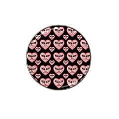 Angry Devil Hearts Seamless Pattern Hat Clip Ball Marker (10 pack)