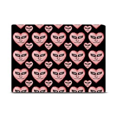 Angry Devil Hearts Seamless Pattern Plate Mats