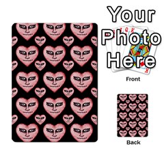 Angry Devil Hearts Seamless Pattern Multi-purpose Cards (Rectangle)