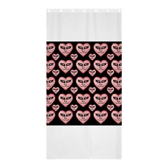 Angry Devil Hearts Seamless Pattern Shower Curtain 36  x 72  (Stall)